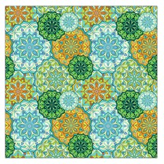 Forest Spirits  Green Mandalas  Large Satin Scarf (square) by bunart