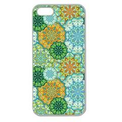 Forest Spirits  Green Mandalas  Apple Seamless Iphone 5 Case (clear) by bunart