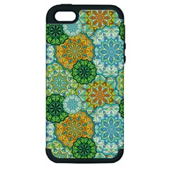 Forest Spirits  Green Mandalas  Apple Iphone 5 Hardshell Case (pc+silicone) by bunart