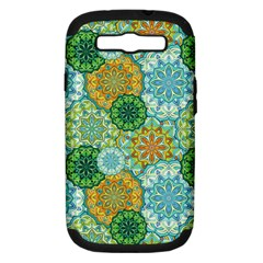 Forest Spirits  Green Mandalas  Samsung Galaxy S Iii Hardshell Case (pc+silicone) by bunart