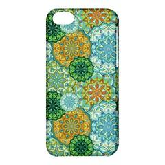 Forest Spirits  Green Mandalas  Apple Iphone 5c Hardshell Case by bunart