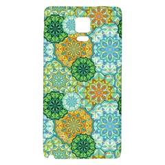 Forest Spirits  Green Mandalas  Samsung Note 4 Hardshell Back Case by bunart