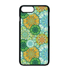 Forest Spirits  Green Mandalas  Apple Iphone 7 Plus Seamless Case (black) by bunart