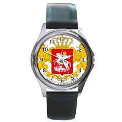Greater Coat Of Arms Of Georgia Round Metal Watch