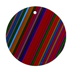 Color Stripes Pattern Ornament (round)
