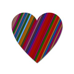 Color Stripes Pattern Heart Magnet by Simbadda