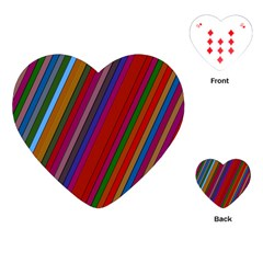 Color Stripes Pattern Playing Cards (heart)  by Simbadda