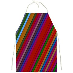 Color Stripes Pattern Full Print Aprons by Simbadda