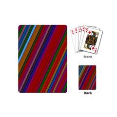 Color Stripes Pattern Playing Cards (mini)  by Simbadda