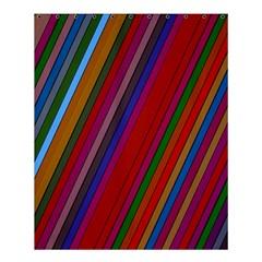 Color Stripes Pattern Shower Curtain 60  X 72  (medium)  by Simbadda