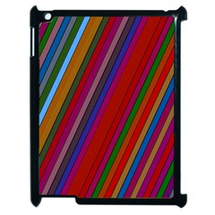 Color Stripes Pattern Apple Ipad 2 Case (black) by Simbadda
