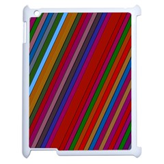 Color Stripes Pattern Apple Ipad 2 Case (white) by Simbadda