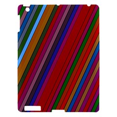Color Stripes Pattern Apple Ipad 3/4 Hardshell Case by Simbadda
