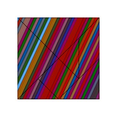 Color Stripes Pattern Acrylic Tangram Puzzle (4  X 4 ) by Simbadda