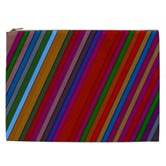 Color Stripes Pattern Cosmetic Bag (xxl)  by Simbadda