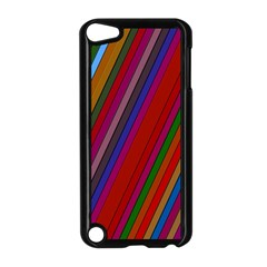 Color Stripes Pattern Apple Ipod Touch 5 Case (black) by Simbadda