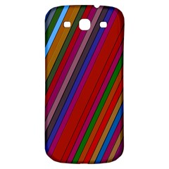 Color Stripes Pattern Samsung Galaxy S3 S Iii Classic Hardshell Back Case by Simbadda