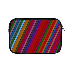 Color Stripes Pattern Apple Ipad Mini Zipper Cases by Simbadda