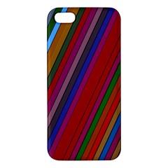 Color Stripes Pattern Iphone 5s/ Se Premium Hardshell Case by Simbadda