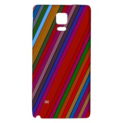 Color Stripes Pattern Galaxy Note 4 Back Case