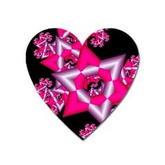 Star Of David On Black Heart Magnet by Simbadda