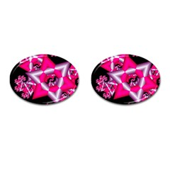 Star Of David On Black Cufflinks (oval) by Simbadda