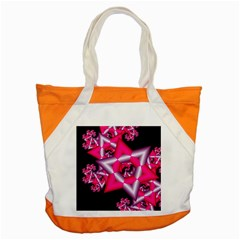 Star Of David On Black Accent Tote Bag by Simbadda