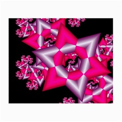 Star Of David On Black Small Glasses Cloth (2 Side) by Simbadda