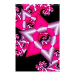 Star Of David On Black Shower Curtain 48  X 72  (small)  by Simbadda