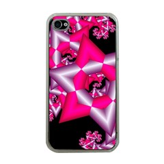 Star Of David On Black Apple Iphone 4 Case (clear) by Simbadda