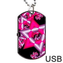 Star Of David On Black Dog Tag Usb Flash (two Sides) by Simbadda
