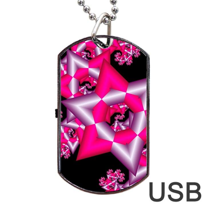 Star Of David On Black Dog Tag USB Flash (Two Sides)