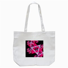 Star Of David On Black Tote Bag (white) by Simbadda