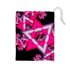 Star Of David On Black Drawstring Pouches (large)  by Simbadda