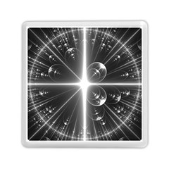 Black And White Bubbles On Black Memory Card Reader (square)  by Simbadda