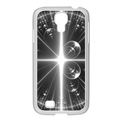 Black And White Bubbles On Black Samsung Galaxy S4 I9500/ I9505 Case (white) by Simbadda
