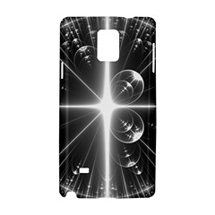 Black And White Bubbles On Black Samsung Galaxy Note 4 Hardshell Case by Simbadda