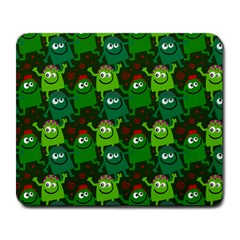 Seamless Little Cartoon Men Tiling Pattern Large Mousepads by Simbadda