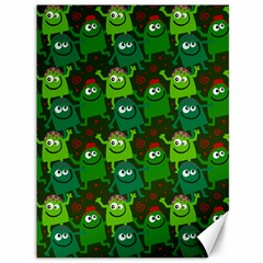 Seamless Little Cartoon Men Tiling Pattern Canvas 36  X 48   by Simbadda