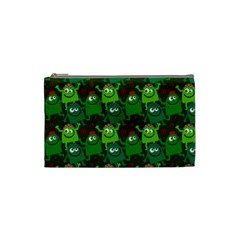 Seamless Little Cartoon Men Tiling Pattern Cosmetic Bag (small)  by Simbadda