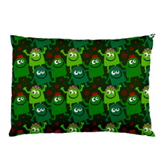 Seamless Little Cartoon Men Tiling Pattern Pillow Case (two Sides) by Simbadda