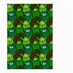 Seamless Little Cartoon Men Tiling Pattern Small Garden Flag (two Sides) by Simbadda
