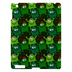 Seamless Little Cartoon Men Tiling Pattern Apple Ipad 3/4 Hardshell Case by Simbadda