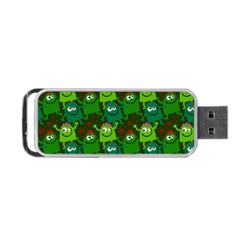 Seamless Little Cartoon Men Tiling Pattern Portable Usb Flash (two Sides) by Simbadda
