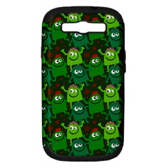 Seamless Little Cartoon Men Tiling Pattern Samsung Galaxy S Iii Hardshell Case (pc+silicone) by Simbadda