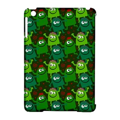Seamless Little Cartoon Men Tiling Pattern Apple Ipad Mini Hardshell Case (compatible With Smart Cover) by Simbadda