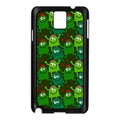 Seamless Little Cartoon Men Tiling Pattern Samsung Galaxy Note 3 N9005 Case (black) by Simbadda
