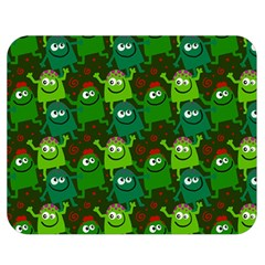 Seamless Little Cartoon Men Tiling Pattern Double Sided Flano Blanket (medium)  by Simbadda