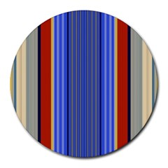 Colorful Stripes Background Round Mousepads by Simbadda