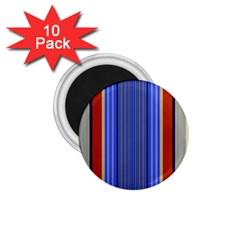 Colorful Stripes Background 1 75  Magnets (10 Pack)  by Simbadda